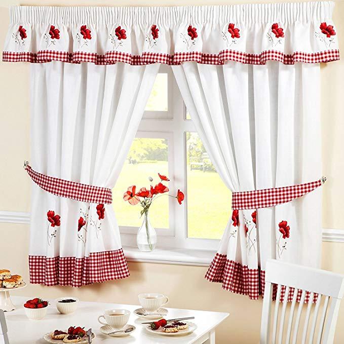 🥇 15 Modernas cortinas de tela para cocina comedor ✔️