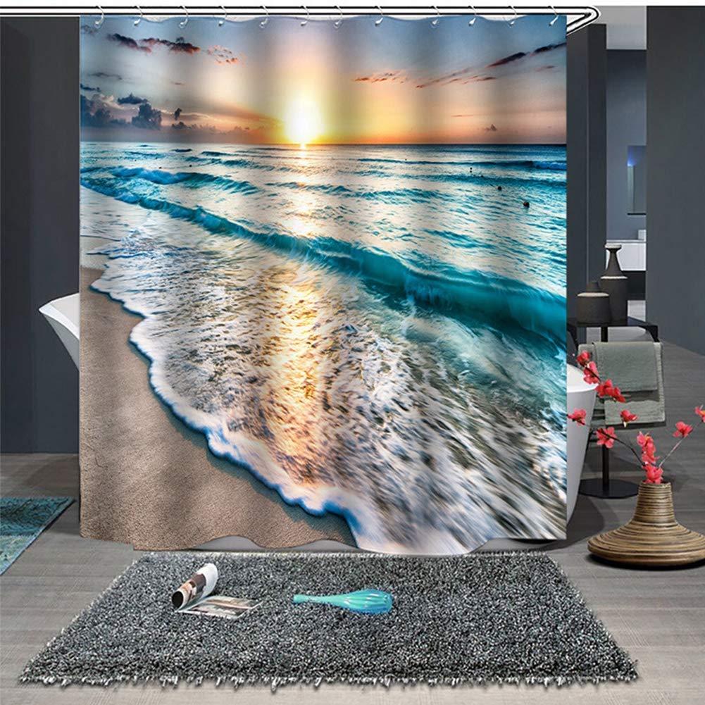cortinas de baño con paisajes