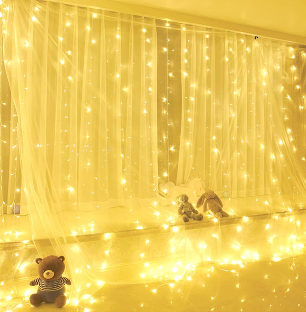 imagenes de areglos de cortinas con luces para decorar