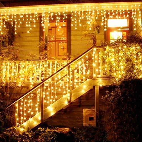imagenes de arreglos de cortinas con luces led para decorar en navidad