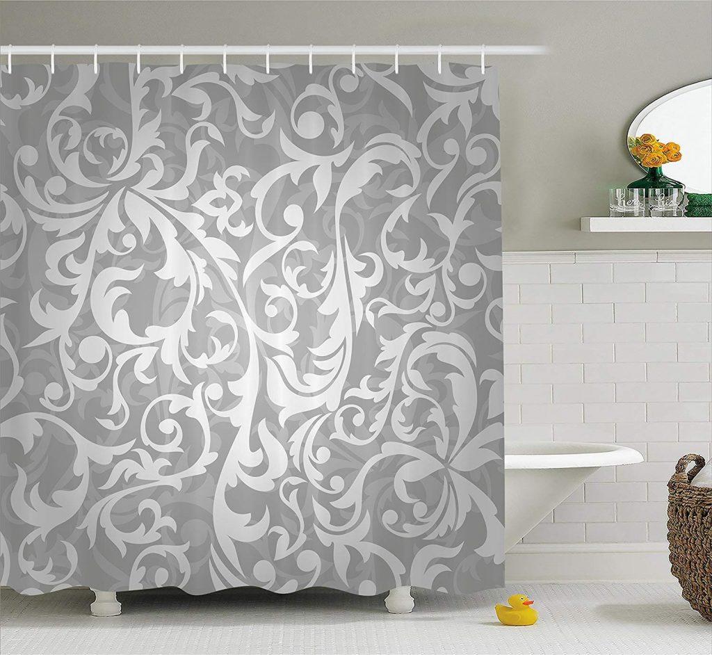 cortinas de baño color plata