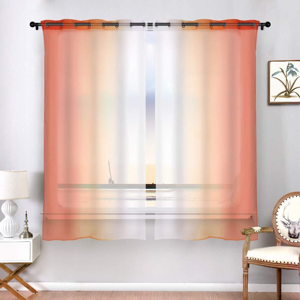como decorar con cortinas naranjas