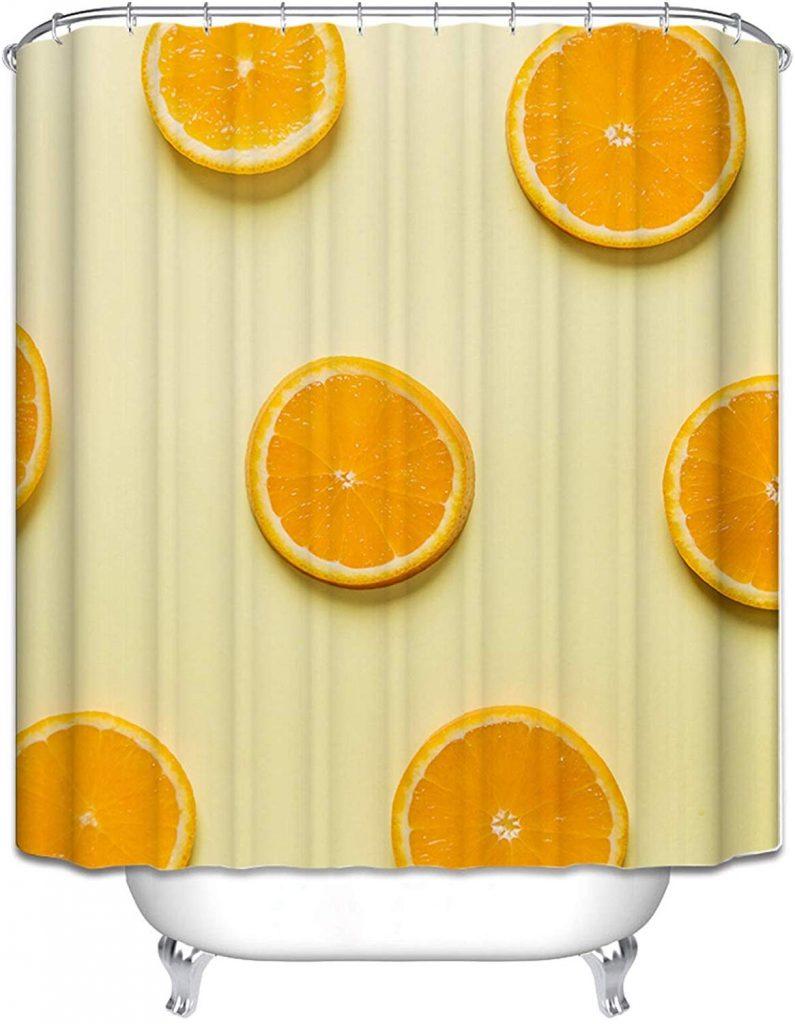 comprar cortinas naranjas