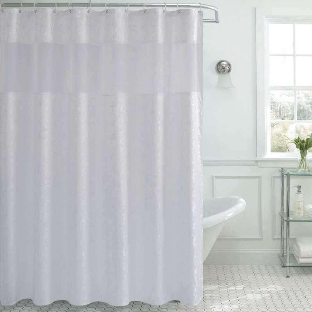 cortinas de baño plateadas
