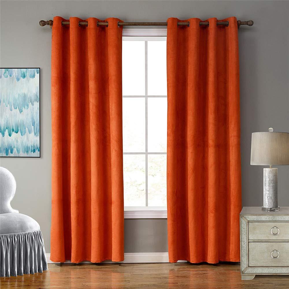 tipos de cortinas naranjas